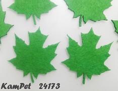 ZELENÝ javorový LIST velká ozdoba aplikace plst filc