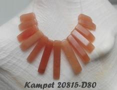 Oranžový AVANTURÍN sada zubů na náhrdelník minerální kámen