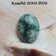 ZELENÝ achát stromečkový kabošon minerální kámen