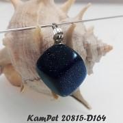 Modrý písečný kámen přívěšek třpytivý přívěsek