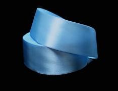 Modrá světlá stuha atlasová 38mm saténová stužka modrá světlá