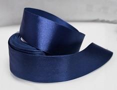 Modrá tmavá stuha atlasová 38mm saténová stužka modrá tmavá