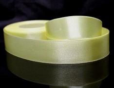 Žlutá světle stuha atlasová PERLEŤOVÁ luxusní stuha 25mm stužka žlutá světlá