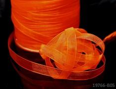 Oranžová tmavě stuha organzová 6mm organza stužka šifónová oranžová, á 1m