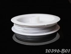 Bílý bižuterní drát tiger drát 0,38mm bílý drátek, á 1m