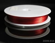 Červený bižuterní drát tiger drát 0,38mm červený drát, á 1m