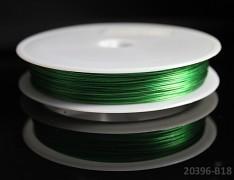 Zelený bižuterní drát tiger drát 0,38mm zelený drát, á 1m