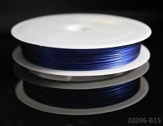 Modrý bižuterní drát tiger drát 0,38mm modrý drát, á 1m