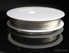 Stříbrný bižuterní drát tiger drát 0,38mm stříbrný drát