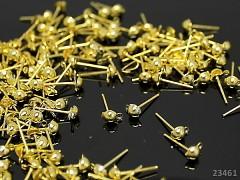 Zlaté náušnice puzety 12/5 náušnicový bižuterní komponent