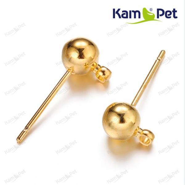 2bf79723f Zlaté náušnice puzety kuličky náušnicový bižuterní komponent Nákupní ...
