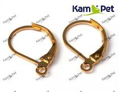 Zlaté náušnice kroužky 15/10 náušnicový bižuterní komponent