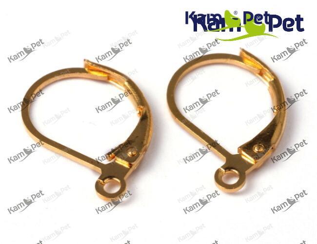 Zlaté náušnice kroužky 15 10 náušnicový bižuterní komponent Nákupní ... 443a69b6bfb