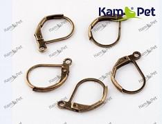 Bronzové náušnice kroužky 15/10 náušnicový bižuterní komponent, bal. 6ks