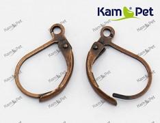 Měděné náušnice kroužky 15/10 náušnicový bižuterní komponent