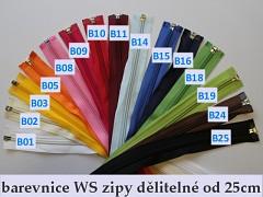 Zip spirálový 5mm WS dělitelný 35cm