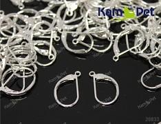Stříbrné náušnice kroužky 17/10 náušnicový bižuterní komponenty, bal. 6ks