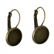Bronzové visací náušnice 12mm náušnicový bižuterní komponent, bal. 2ks
