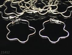 Stříbrné náušnice kroužky velké kytky náušnicové bižuterní komponenty, bal. 20ks