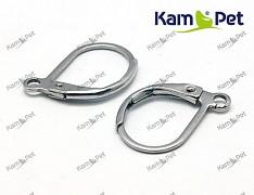 Platinové náušnice kroužky 13/10 náušnicový bižuterní komponenty, bal. 6ks