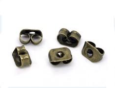 Bronzové náušnicové zarážky k náušnicím motýlci, bal. 20ks