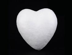 Polystyrénové srdce 6cm výlisek  polystyrénu 60mm, á 1ks