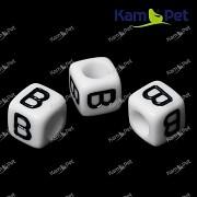 Bílé korálky písmena B korálek písmenko B písmenka