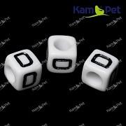 Bílé korálky písmena D korálek písmenko D písmenka