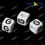 Bílé korálky písmena G korálek písmenko G písmenka