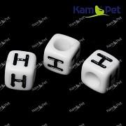 Bílé korálky písmena H korálek písmenko H písmenka