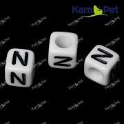 Bílé korálky písmena N korálek písmenko N písmenka