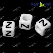 Bílé korálky písmena Z korálek písmenko Z písmenka