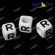Bílé korálky písmena R korálek písmenko R písmenka