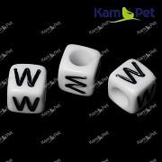 Bílé korálky písmena W korálek písmenko W písmenka