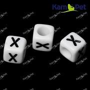 Bílé korálky písmena X korálek písmenko X písmenka