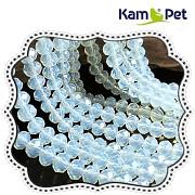 Bílo - modrý Opalit broušené rondelky 6/4mm, á 1ks