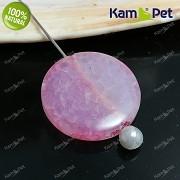Růžový dračí achát kámen na náhrdelník šperkový přírodní minerál