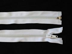 Zip spirálový 5mm WS dělitelný 40cm BÍLÝ