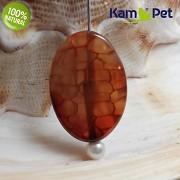 Karamelový dračí achát kámen na náhrdelník šperkový přírodní minerál
