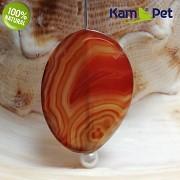 Karamelový achát kámen na náhrdelník šperkový přírodní minerál