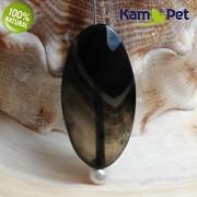 Černý achát kámen na náhrdelník šperkový přírodní minerál