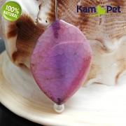 Růžový dračí achát KAPKA kámen na náhrdelník šperkový přírodní minerál