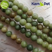 Zelený olivový JADEIT kuličky 6mm přírodní minerál