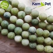 Zelený olivový JADEIT kuličky 8mm FROST přírodní minerál