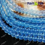 Modrý Opalit kuličky 6mm AA kvalita, á 1ks