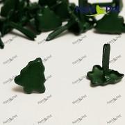 Zelené stromečky scrapbooking hřebíčky nýty