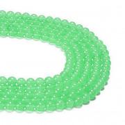 Zelený světle Jadeit kuličky 6mm přírodní minerál