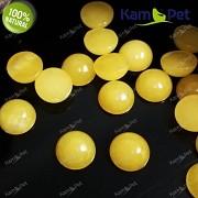 Žlutý Jadeit přírodní kabošon 10mm pecičky do náušnic