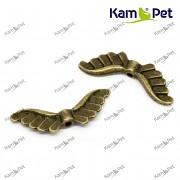 Bižuterní mezidíl KŘÍDLA bronz mezikus křídlo