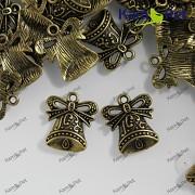 Bronzový přívěšek ZVONEČEK vintage přívěšky, á 1ks
